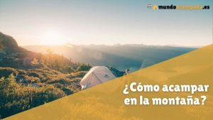 como acampar montana