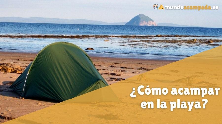 como acampar playa